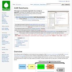 CAM Toolchains