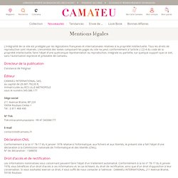 Camaieu, mentions légales