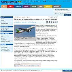 Camair-co: le Cameroun lance l'achat des avions de type Q-400