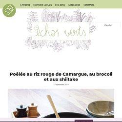 Poêlée au riz rouge de Camargue, au brocoli et aux shiitake