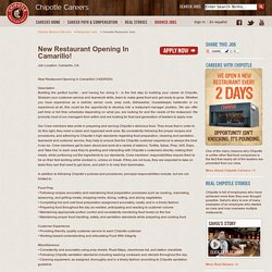 Camarillo Restaurant jobs - New Restaurant Opening In Camarillo! at Chipotle Mexican Grill