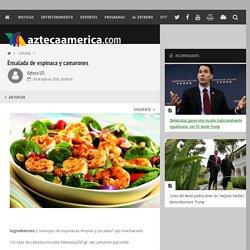 Ensalada de espinaca y camarones - Cocina - Nota - aztecaamerica.com
