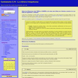 Cambalache 3,14 - La vidriera irrespetuosa