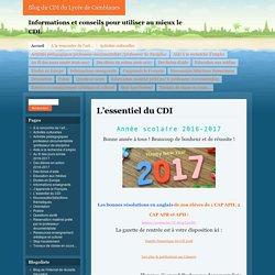 Informations et conseils pour utiliser au mieux le CDI.