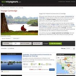 Voyage Cambodge chez l'habitant et ecotourisme solidaire