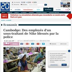 Cambodge: Des employés d'un sous-traitant de Nike blessés par la police