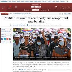 Textile: les ouvriers cambodgiens remportent une bataille