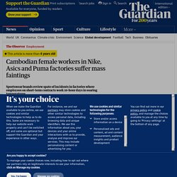 Cambodian female workers in Nike, Asics and Puma factories suffer mass faintings