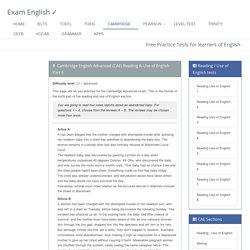 Cambridge English Advanced (CAE) Reading & Use of English Part 6: free practice test (Cross-text multiple matching)