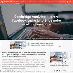 Cambridge Analytica : l'arbre Facebook cache la forêt de notre inculture numérique