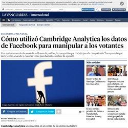 Cómo utilizó Cambridge Analytica los datos de Facebook para manipular a los votantes