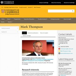 Cambridge Judge Business School: Mark Thompson