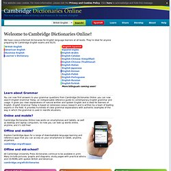 Dictionaries Online - Cambridge University Press