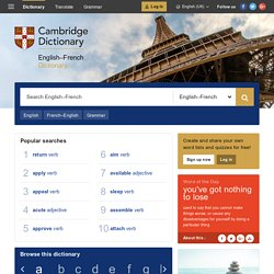 Cambridge Dictionary: English - French