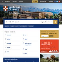 Cambridge English-Spanish Dictionary