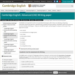 Cambridge English: Advanced (CAE) Writing paper