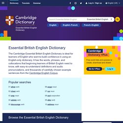 Cambridge Essential English Dictionary (UK)