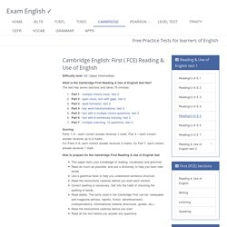 First Certificate in English (FCE) Reading