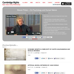 Cambridge Nights | Conversations about a life in science