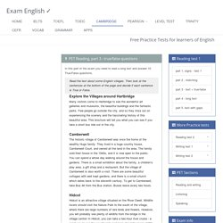 Tanjapan added: Cambridge PET Reading Test part 3. Free Practice for the Preliminary English Test
