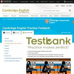 Cambridge English Practice Testbank