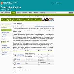 Cambridge English: Preliminary for Schools