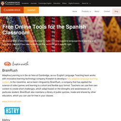 Free Online Tools for the Spanish Classroom