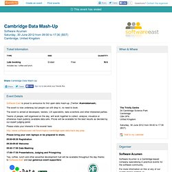Cambridge Data Mash-Up - Eventbrite