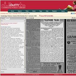 Cambridge Tribune 11 January 1908 — Cambridge Public Library