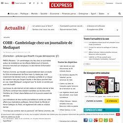 CORR - Cambriolage chez un journaliste de Mediapart