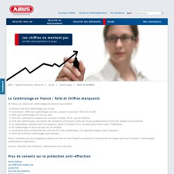 Cambriolage en France Chiffres marquants statistiques - Cambriolage / Guide
