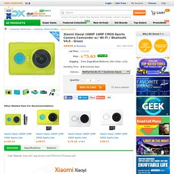 Xiaomi Xiaoyi 1080P 16MP CMOS Sports Camera Camcorder w/ Wi-Fi / Bluetooth V4.0 - Green - Free Shipping - DealExtreme