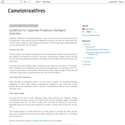 Camelotrealfires: Guidelines for Inglenook Fireplaces Intelligent Selection