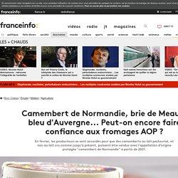 Camembert de Normandie, brie de Meaux, bleu d'Auvergne... Peut-on encore faire confiance aux fromages AOP ?