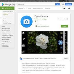 Open Camera – Applications Android sur GooglePlay