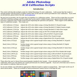 ACR Camera Calibration and Validation