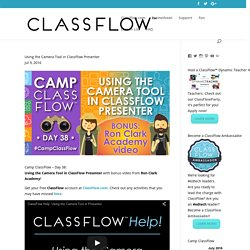 Using the Camera Tool in ClassFlow Presenter