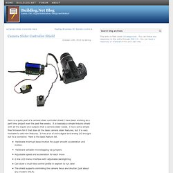 Camera Slider Controller Shield at Buildlog