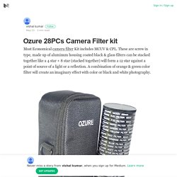 Find The Best Ozure 28PCs Camera Filter kit From Foto-asian