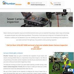 Sewer Camera Inspection Toronto