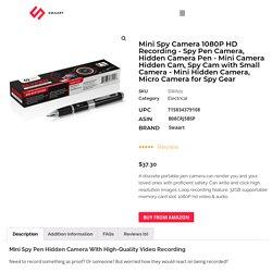 Mini Spy Camera 1080p Hd Recording