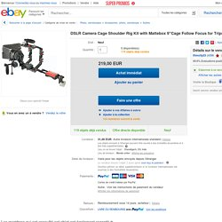 "DSLR Camera Cage Shoulder RIG KIT With Mattebox 9""Cage Follow Focus FOR Tripod"