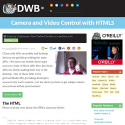 Camera and Video Control with HTML5