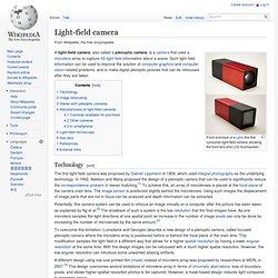 Plenoptic camera