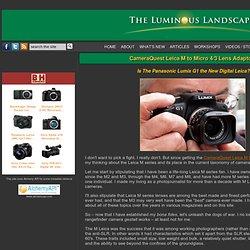 CameraQuest Leica M to Micro 4/3 Lens Adaptor