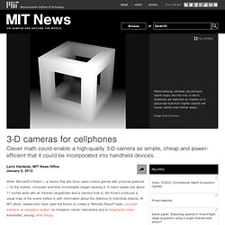 3-D cameras for cellphones