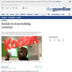 Kodak to stop making cameras