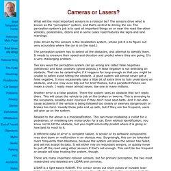 Cameras or Lasers?