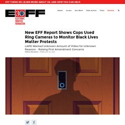 New EFF Report Shows Cops Used Ring Cameras to Monitor Black Lives Matter Protests