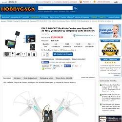 Racing RC Promos - HD Caméras - FPV 5.8G 8CH 720p Kit de Caméra pour Syma X5C X5 X5SC Quadcopter (y compris SD Carte et lecteur )